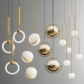 Four Hanging Lights-46 Exclusive 3d model Download  Buy 3dbrute