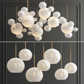Giopato Bolle & Sculptural Glass Chandelier 3d model Download  Buy 3dbrute