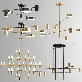 Four Exclusive Chandelier Collection-35 3d model Download  Buy 3dbrute