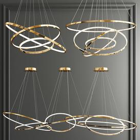 Trend Gold Ring Chandelier - 3 type 3d model Download  Buy 3dbrute