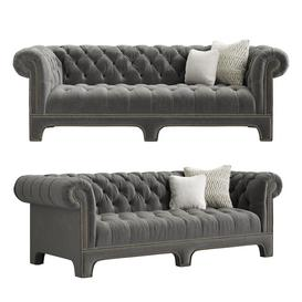 CLAUDETTE SOFA - Mitchell Gold - Bob Williams 3d model Download  Buy 3dbrute