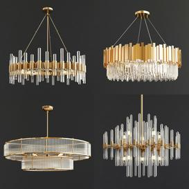 Four Exclusive Chandelier Collection-37 3d model Download  Buy 3dbrute