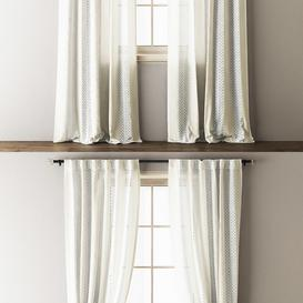 Anthropologie Lace Curtains 3d model Download  Buy 3dbrute