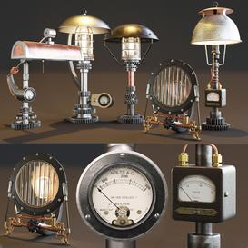 AVE Machine Brothers Lamps Set 3d model Download  Buy 3dbrute