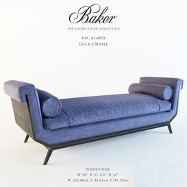 Baker No  6148CS Lola Chaise 3d model Download  Buy 3dbrute