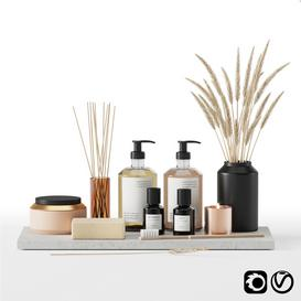 Bathroom accessories set 01 3d model Download  Buy 3dbrute