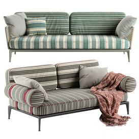 B&B Italia Ribes sofa 1 3d model Download  Buy 3dbrute