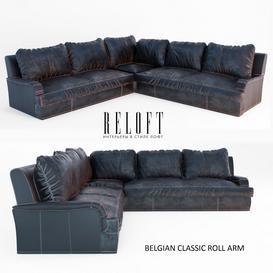 Belgian classic roll arm 3d model Download  Buy 3dbrute