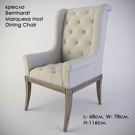 Bernhardt Marquesa Host Dining Chair 3d model Download  Buy 3dbrute