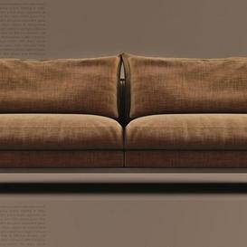 Brando sofa by Black Tie 3d model Download  Buy 3dbrute