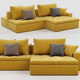 Calligaris Lounge sofa 3d model Download  Buy 3dbrute