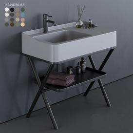 Ceramica Cielo Siwa Washbasin 3d model Download  Buy 3dbrute