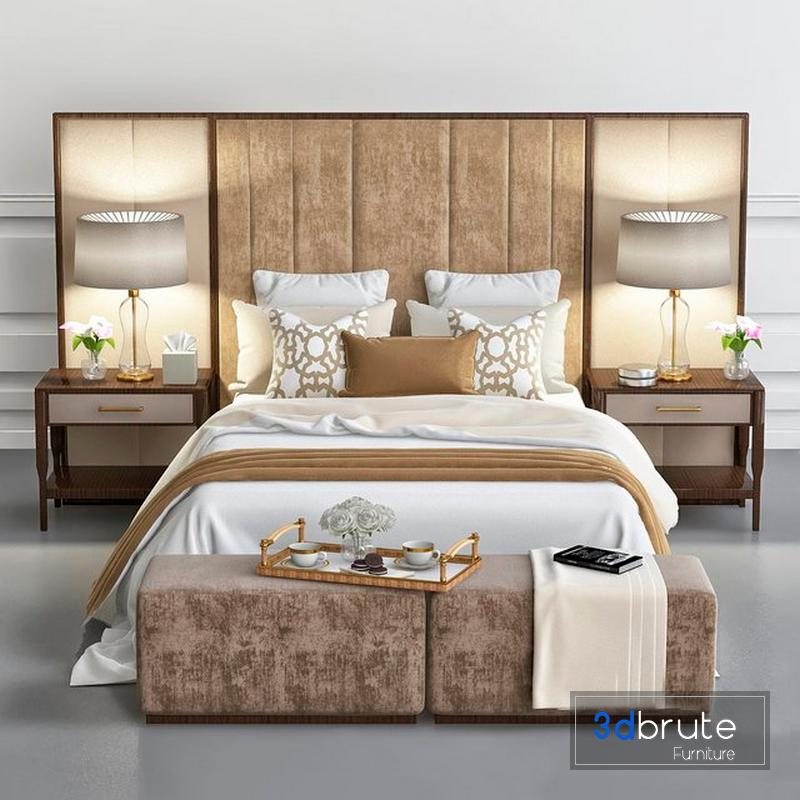 Chair And Sofa Company Luxury Bedroom 3d Model Buy Download 3dbrute