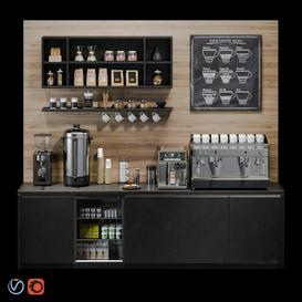 Coffee bar 3d model Download  Buy 3dbrute