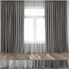 Curtain 11 3d model Download  Buy 3dbrute