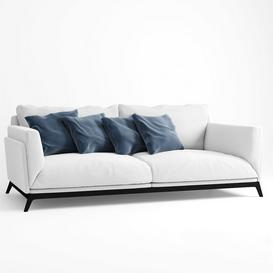 Faubourg sofa 3d model Download  Buy 3dbrute
