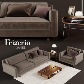 Frigerio James sofa and table 3d model Download  Buy 3dbrute
