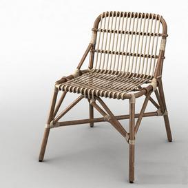 Garden wicker chair 3d model Download  Buy 3dbrute