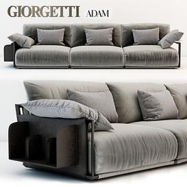 Giorgetti Adam sofa 3d model Download  Buy 3dbrute
