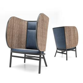 HIDEOUT Lounge Chair by Front 3d model Download  Buy 3dbrute