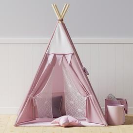 Kids Teepee 3d model Download  Buy 3dbrute
