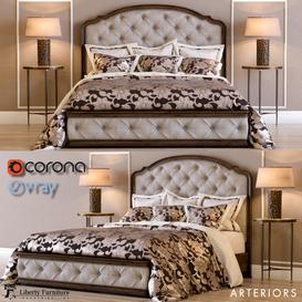 Liberty Amelia Queen Bed 3d model Download  Buy 3dbrute
