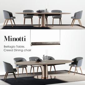 Minotti Bellagio set 3d model Download  Buy 3dbrute