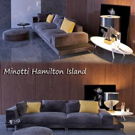 Minotti Hamilton Island 3d model Download  Buy 3dbrute