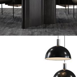 Minotti Set Fil Noir 3d model Download  Buy 3dbrute