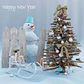 New year LT 3d model Download  Buy 3dbrute
