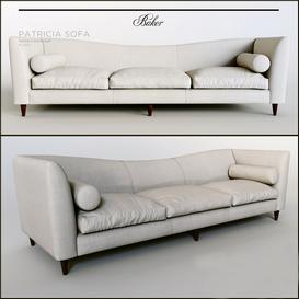 PATRICIA SOFA by Baker Furniture 3d model Download  Buy 3dbrute