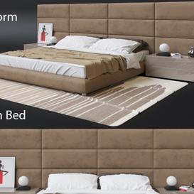Poliform Dream Bed 3d model Download  Buy 3dbrute