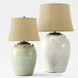 Pottery Barn | Courtney Ceramic Table Lamps 3d model Download  Buy 3dbrute