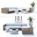 RESTORATION HARDWARE CLODAGH outdoor sofa
