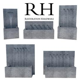 Restoration Hardware Weathered Zinc Fountains 3d model Download  Buy 3dbrute