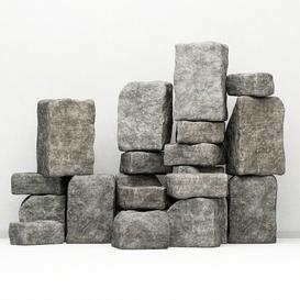 Rock stone collection decorative 3d model Download  Buy 3dbrute