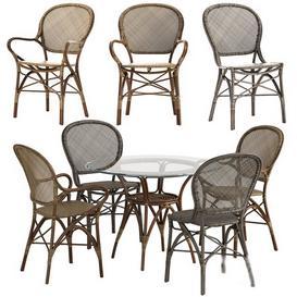 Sika Design Rossini chair Originals table set 3d model Download  Buy 3dbrute