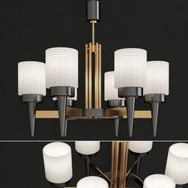 Stilnovo Chandelier Pendant - Mid Centurty 3d model Download  Buy 3dbrute
