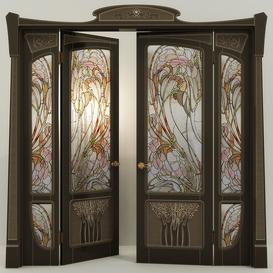 Stained glass door 3d model Download  Buy 3dbrute