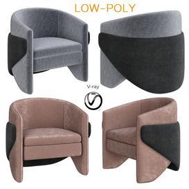 Thea Chair West Elm 3d model Download  Buy 3dbrute