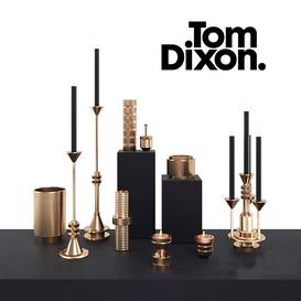 Tom Dixon COG Candle Collection 3d model Download  Buy 3dbrute