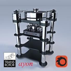 TRANSROTOR RONDINO NERO FMD & AYON AUDIO TRITON 3d model Download  Buy 3dbrute