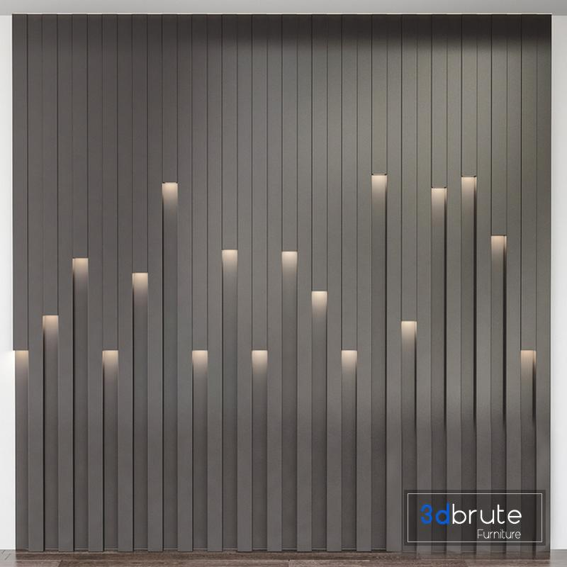 Wall Panel 3d Model Buy Download 3dbrute