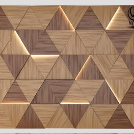Wall Wood Panel with Lights 3d model Download  Buy 3dbrute