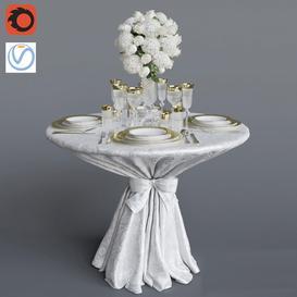 Wedding Table 3d model Download  Buy 3dbrute