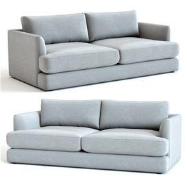 West Elm Haven Sofa 3d model Download  Buy 3dbrute