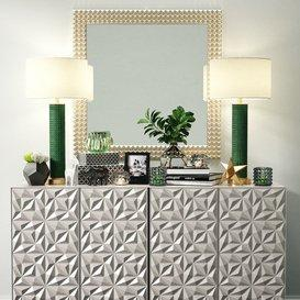 Sideboard Decorative Set 01 3d model Download  Buy 3dbrute
