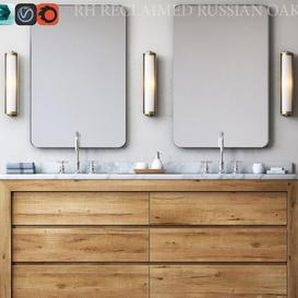 RECLAIMED RUSSIAN OAK DOUBLE VANITY 3d model Download  Buy 3dbrute