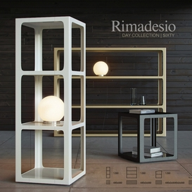 Shelving and table Rimadesio Sixty LT 3d model Download  Buy 3dbrute