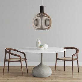 Alias Saen Round Table set LT 3d model Download  Buy 3dbrute